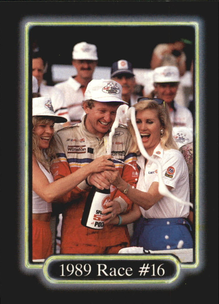 1990 Maxx #185 Darrell Waltrip's Car/Terry Labonte's Car/Mark Martin's Car/Dale Jarrett's Car/Year in Review