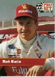 1991 Pro Set #21 Mark Martin