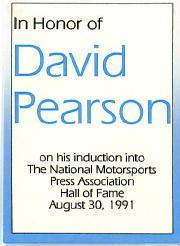 1991 TG Racing David Pearson #1 David Pearson