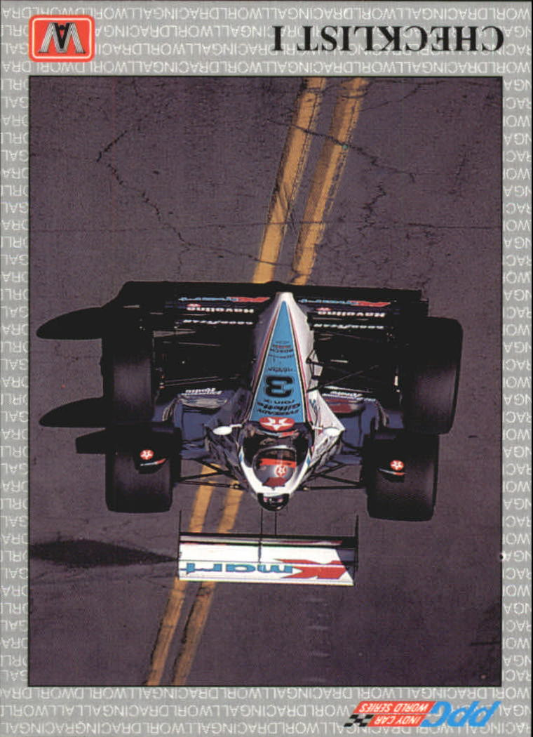 1991 All World Indy #13 Checklist 1 UER