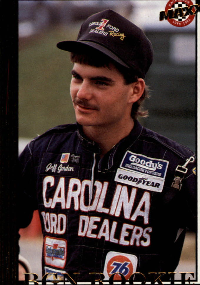 1992 Maxx Black #50 Jeff Gordon/Rookie of the Year