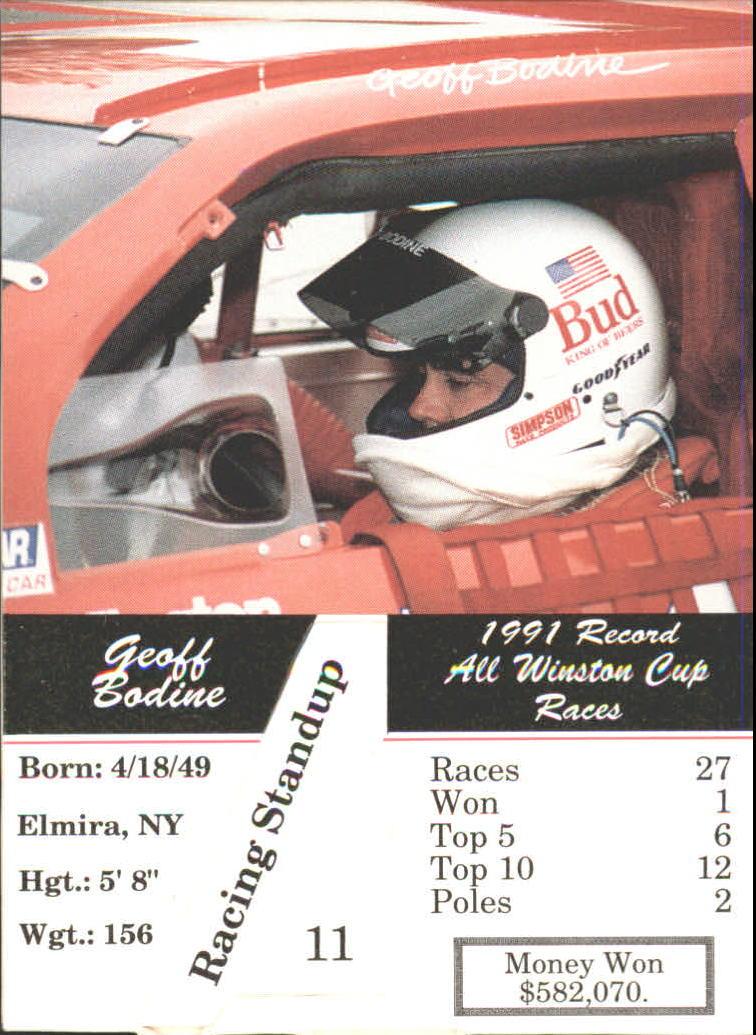 1992 Redline Standups #11 Geoff Bodine back image