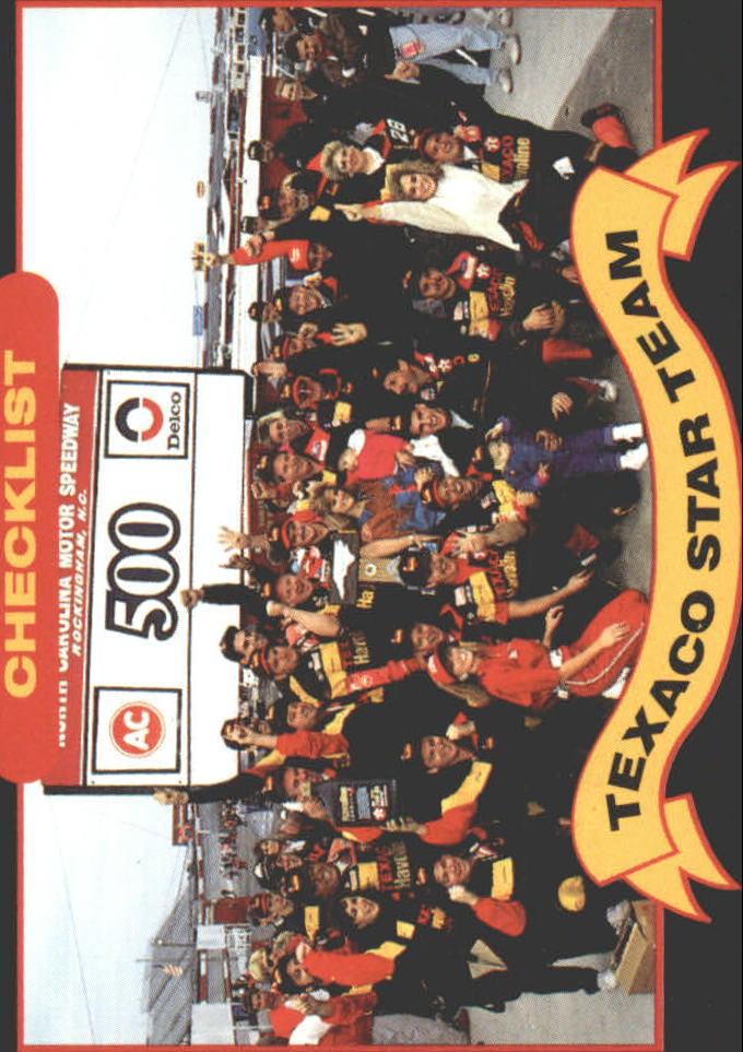 1992 Maxx Texaco Davey Allison #20 Davey Allison w/Crew/Checklist Card