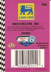 1992 Food Lion Richard Petty #56 Richard Petty w/Car back image