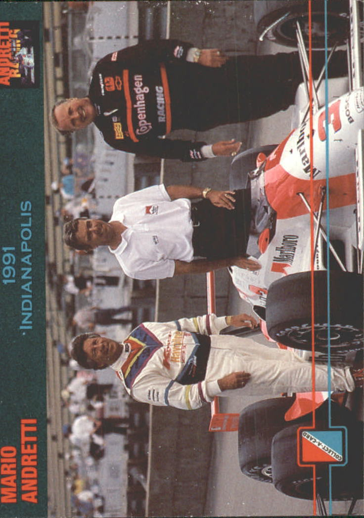 1992 Collect-A-Card Andretti Racing #78 Mario Andretti/A.J. Foyt/Rick Mears