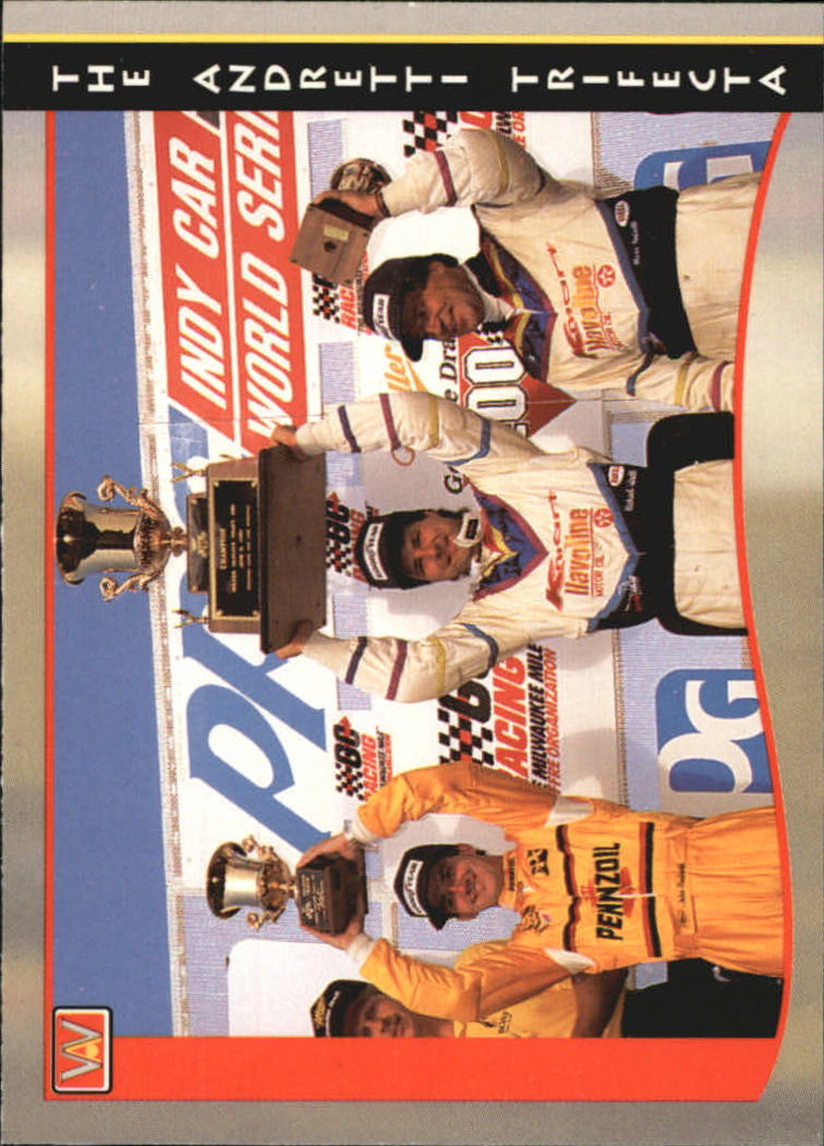 1992 All World Indy #50 Andretti Trifecta