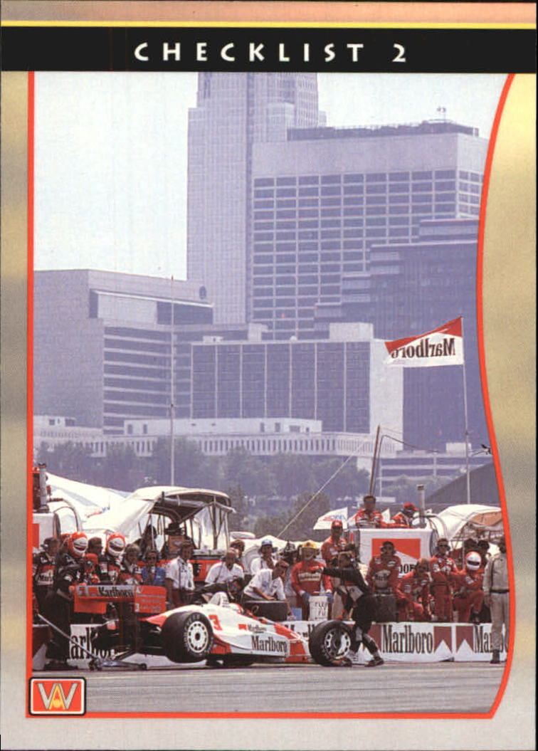 1992 All World Indy #54 Checklist