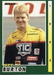 1993 Maxx #45 Jeff Burton