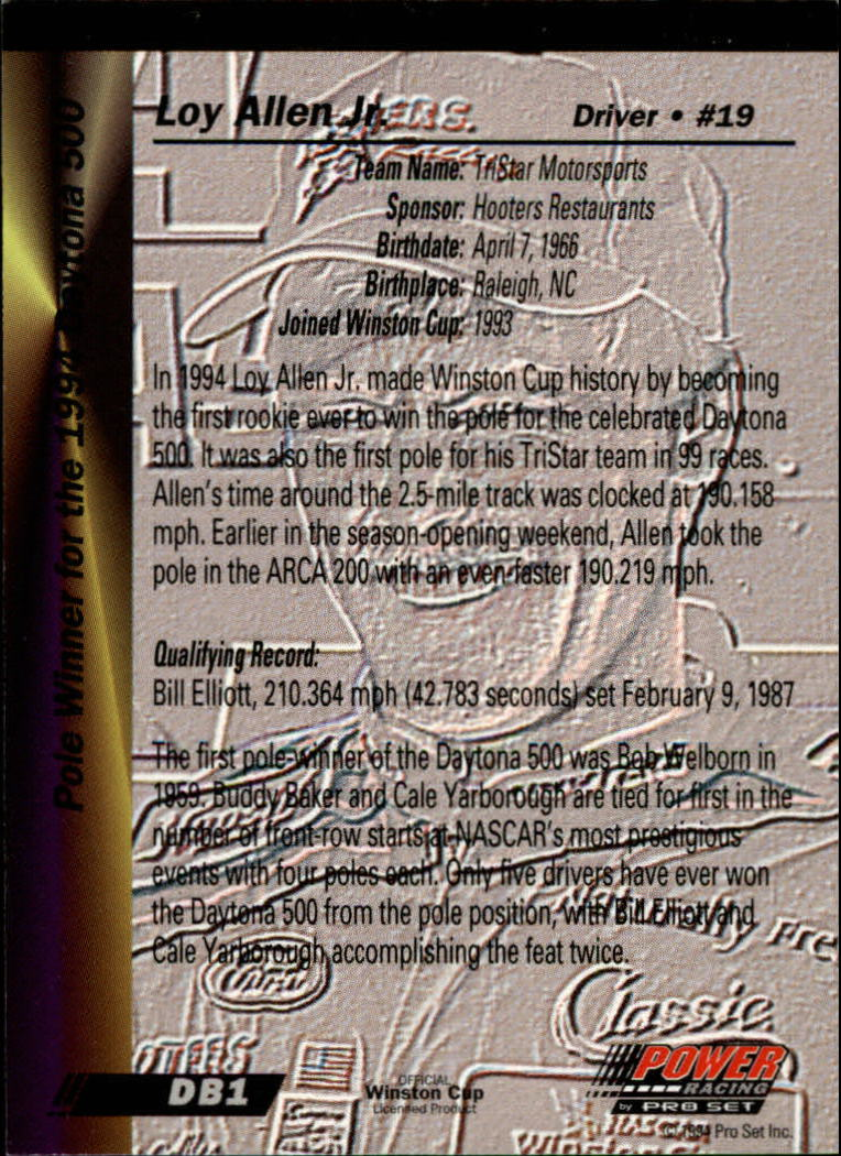 Sports Mem, Cards & Fan Shop 1998 Press Pass #142 Buddy Baker Racing Card