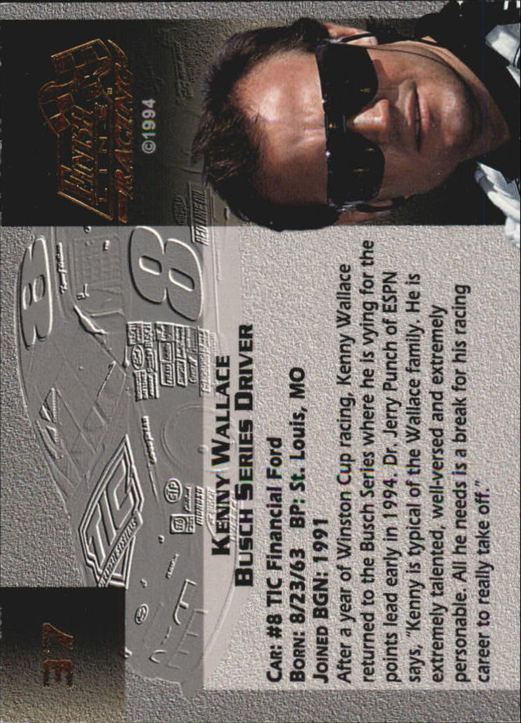 1994 Finish Line Gold Autographs #37 Kenny Wallace back image