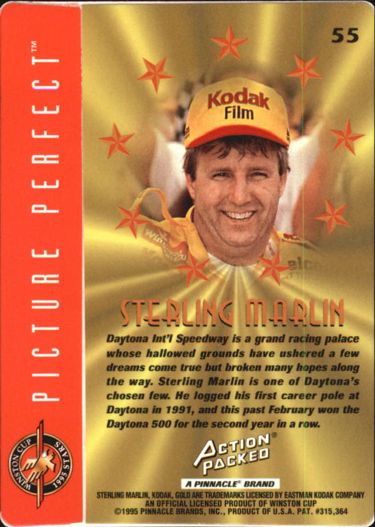 1995 Action Packed Stars #55 Sterling Marlin OC back image