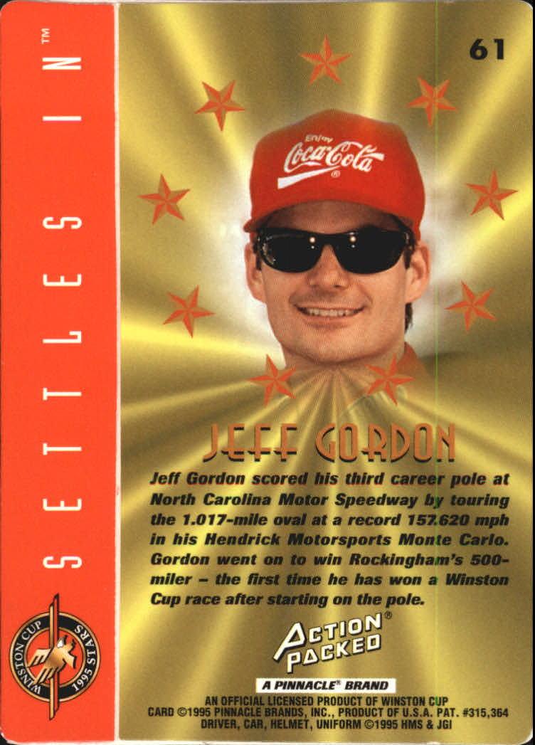 1995 Action Packed Stars #61 Jeff Gordon PP back image