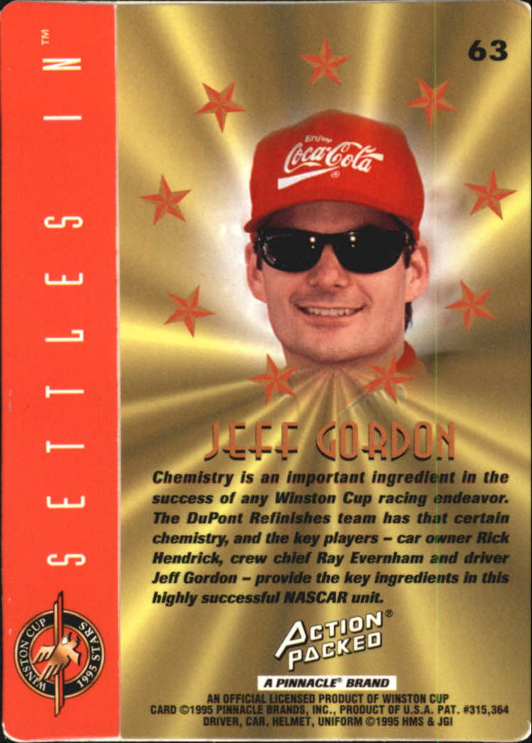 1995 Action Packed Stars #63 Jeff Gordon PP back image