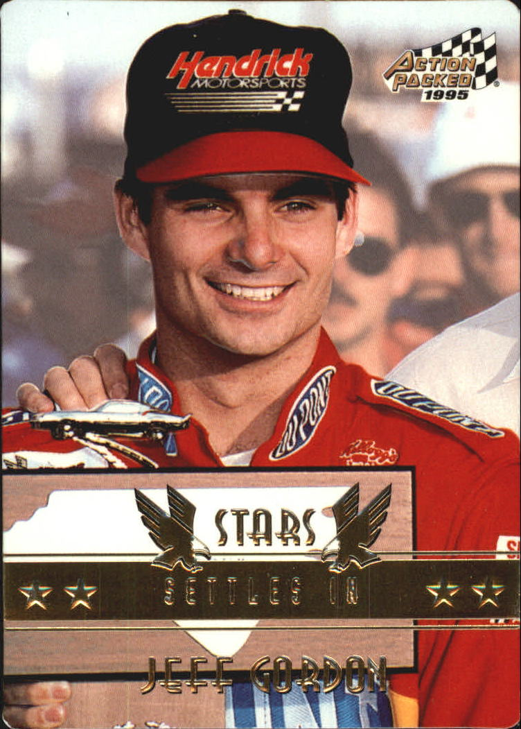 1995 Action Packed Stars #63 Jeff Gordon PP