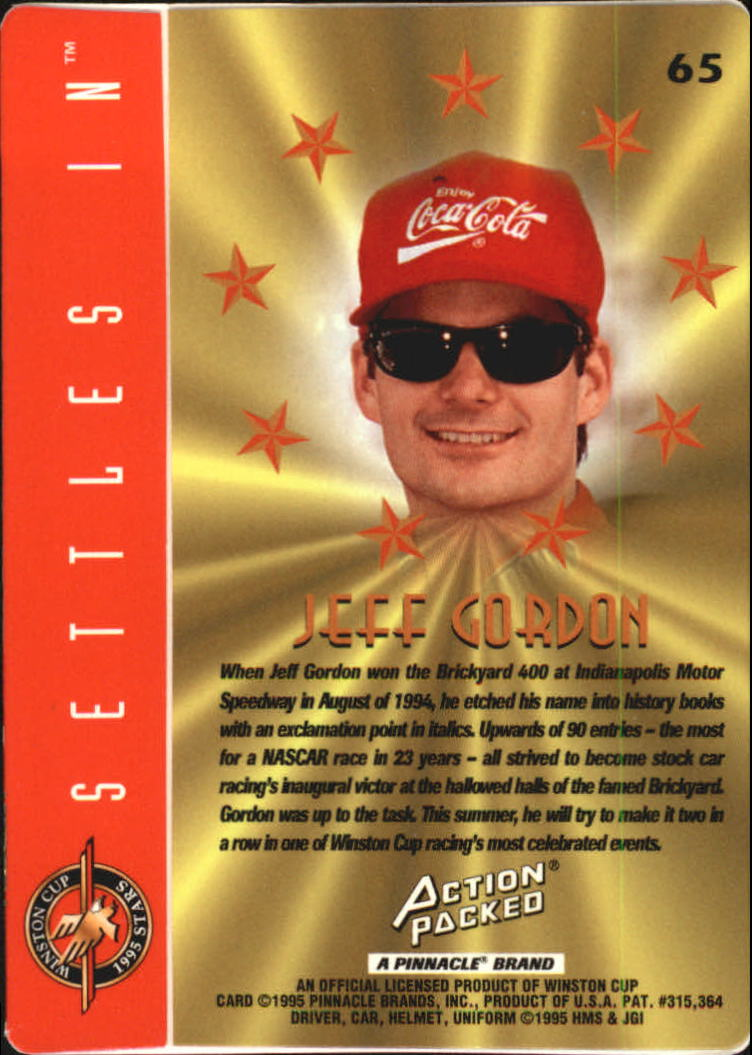 1995 Action Packed Stars #65 Jeff Gordon PP back image