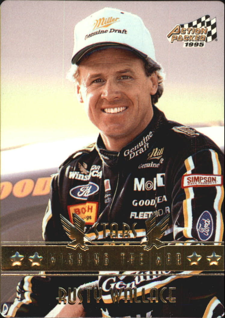 1995 Action Packed Stars #78 Rusty Wallace WW