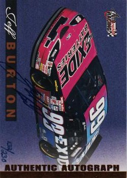 1996 Autographed Racing Autographs Certified Golds #8 Jeff Burton