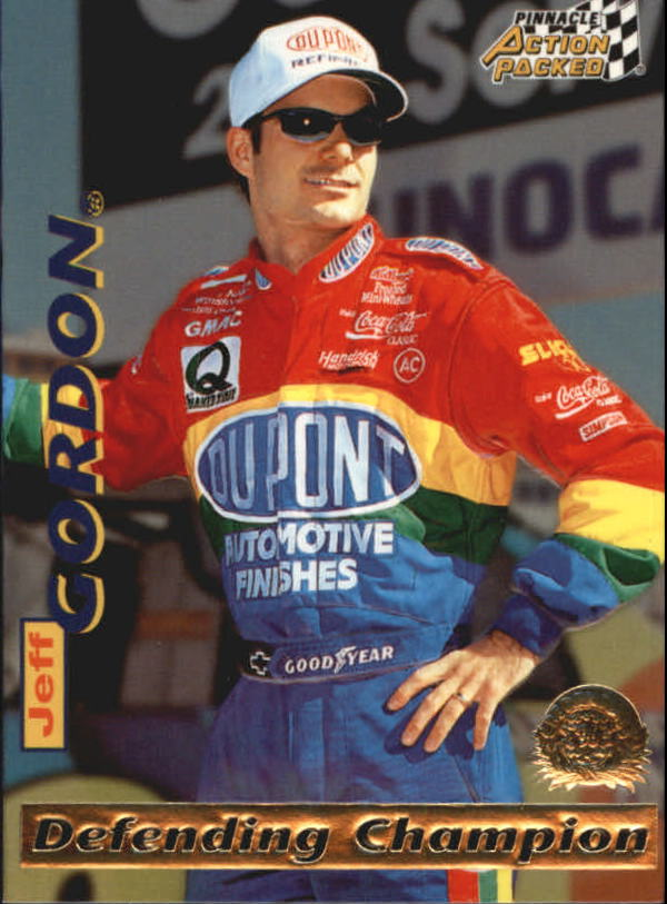 1996 Action Packed Credentials #3 Jeff Gordon DC