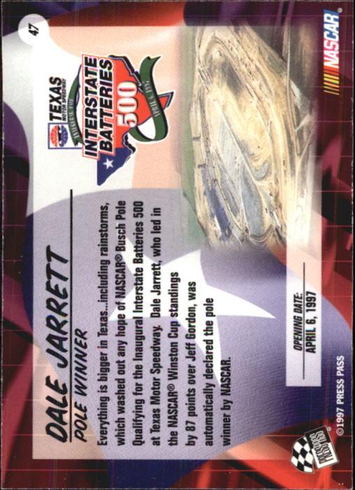 1997 VIP #47 Dale Jarrett back image