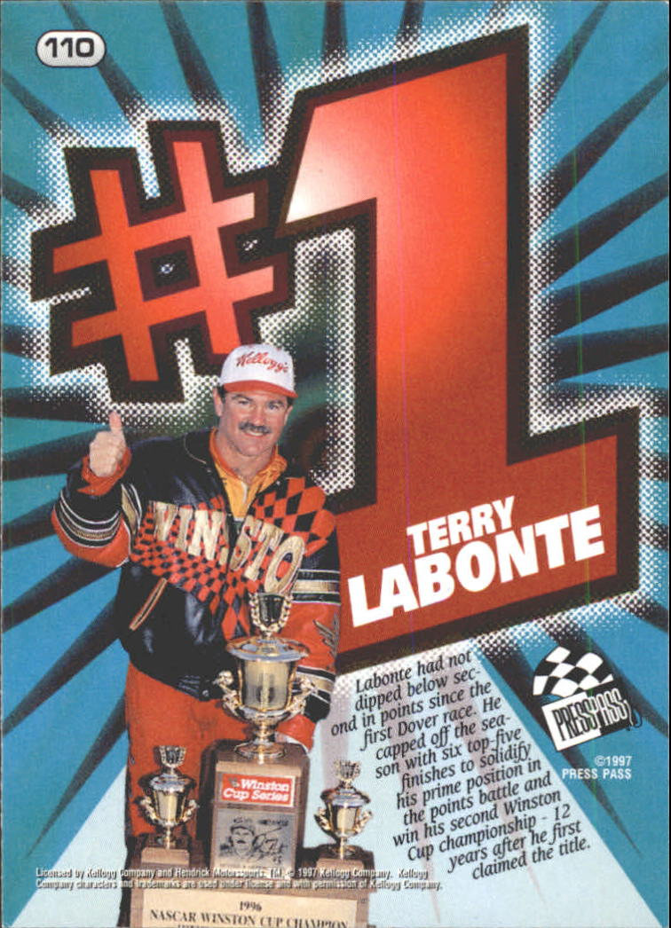 1997 Press Pass #110 Terry Labonte back image