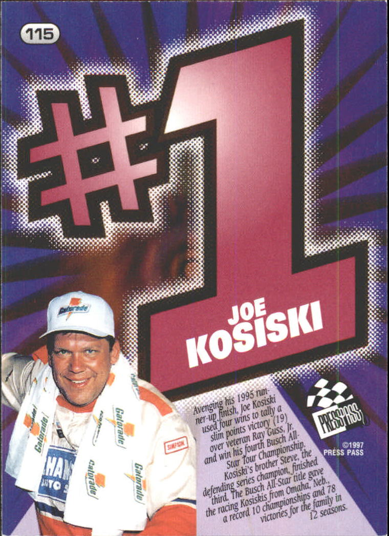 1997 Press Pass #115 Joe Kosiski back image