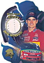 1998 Press Pass Stealth Race Used Gloves #G6 Jeff Gordon