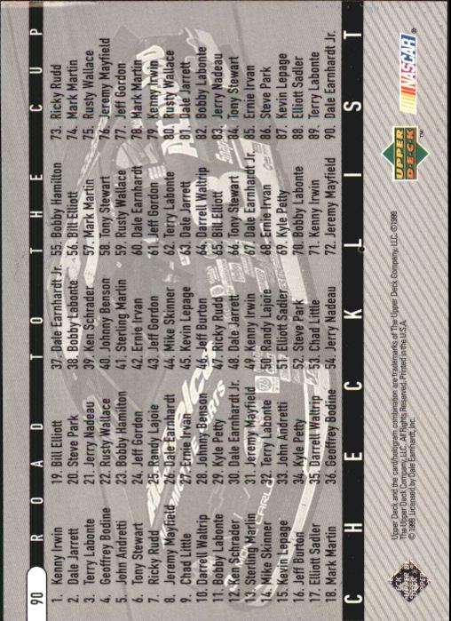 1999 Upper Deck Road to the Cup #90 Dale Earnhardt Jr. CL back image