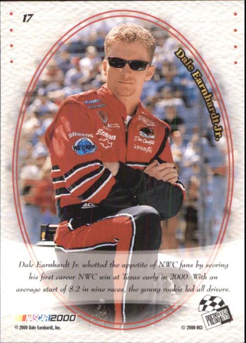 2000 VIP #17 Dale Earnhardt Jr. CRC back image