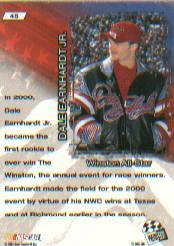 2001 VIP #45 Dale Earnhardt Jr. AS back image