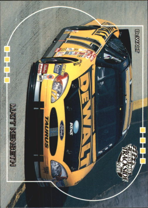 2001 Press Pass Trackside #45 Matt Kenseth's Car