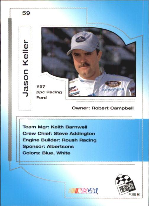 2001 Press Pass Trackside #59 Jason Keller back image