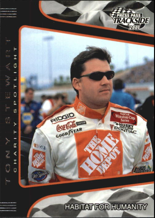 2001 Press Pass Trackside #88 Tony Stewart CS