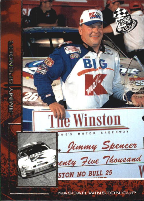 2001 Press Pass #20 Jimmy Spencer