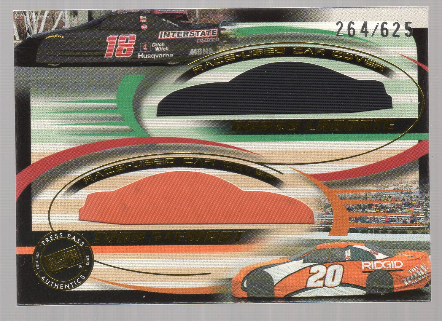 2002 Press Pass Eclipse Under Cover Double Cover #DC7 Bobby Labonte/Tony Stewart