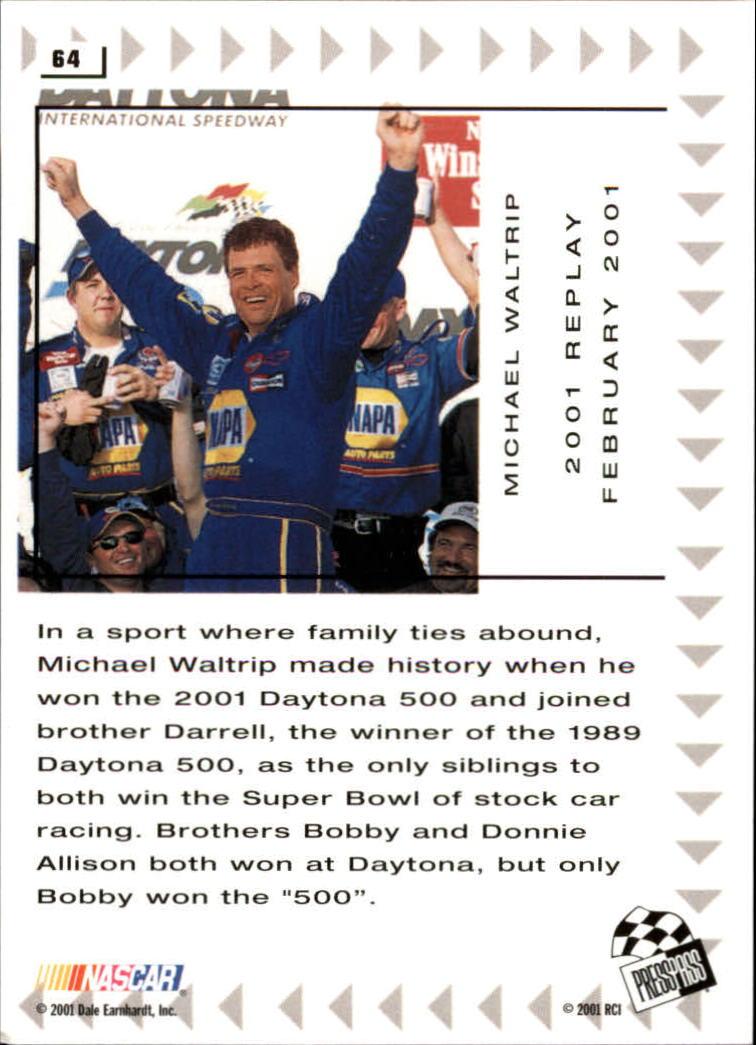 2002 Press Pass #64 Michael Waltrip REP back image