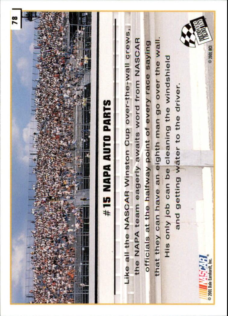 2002 Press Pass #78 Michael Waltrip's Car back image