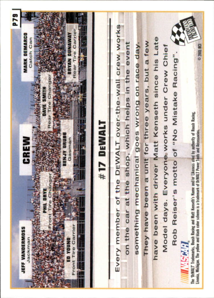 2002 Press Pass Platinum #79 Matt Kenseth's Car back image