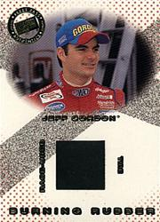 2002 Press Pass Burning Rubber Drivers #BRD1 Jeff Gordon