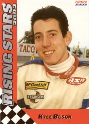 2002 Choice Rising Stars #18 Kyle Busch