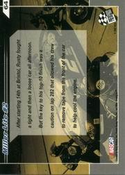 2002 Press Pass Trackside #64 Rusty Wallace's Car back image