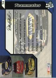 2002 Press Pass Trackside #74 Michael Waltrip TM back image