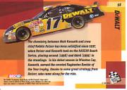 2002 Press Pass Stealth #56 Matt Kenseth's Car SST back image