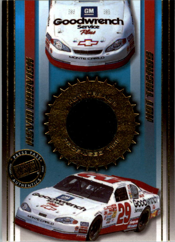 2002 Press Pass Hot Treads #HT9 Kevin Harvick's Car/1555