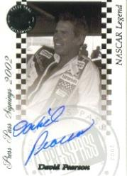 2002 Press Pass Signings #51 David Pearson O/P/S/T/V