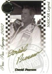 2002 Press Pass Signings Gold #48 David Pearson O/P/S/T/V