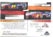 2003 Press Pass Eclipse Under Cover Double Cover #DC3 Terry Labonte/Jeff Gordon back image
