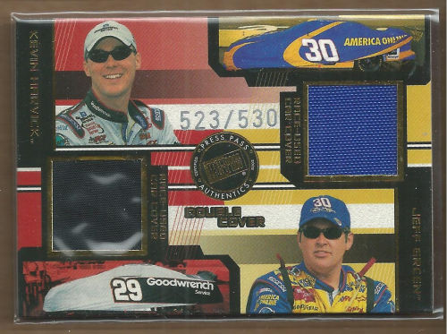 2003 Press Pass Eclipse Under Cover Double Cover #DC9 Kevin Harvick/Jeff Green