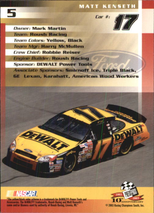 2003-Press-Pass-Racing-Eclipse-Stealth-Inserts-You-Pick-Buy-10-cards-FREE-SHIP thumbnail 46