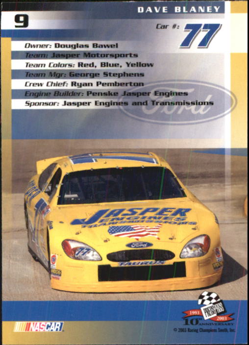 2003-Press-Pass-Racing-Eclipse-Stealth-Inserts-You-Pick-Buy-10-cards-FREE-SHIP thumbnail 54