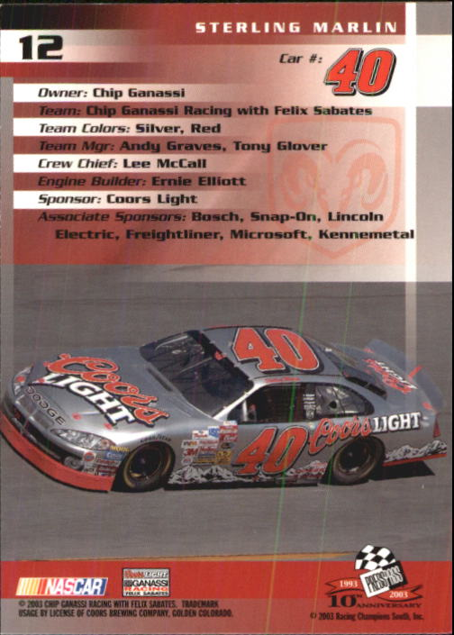 2003-Press-Pass-Racing-Eclipse-Stealth-Inserts-You-Pick-Buy-10-cards-FREE-SHIP thumbnail 60